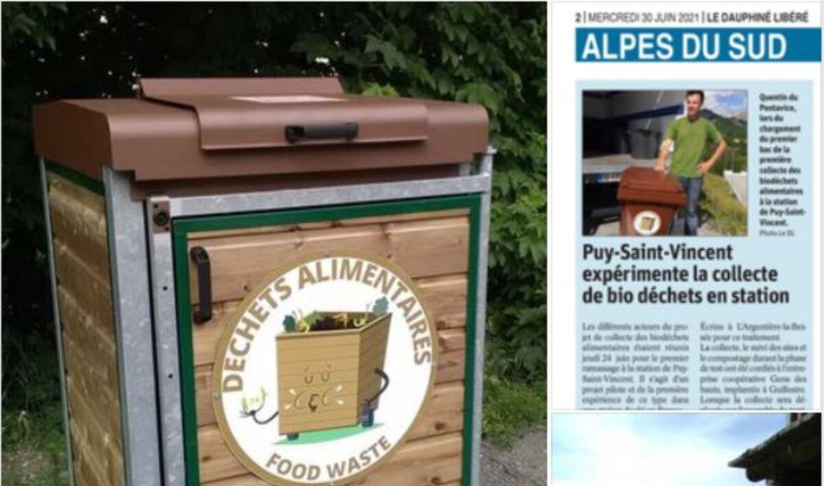 La collecte de déchets alimentaires à Puy-Saint-Vincent.